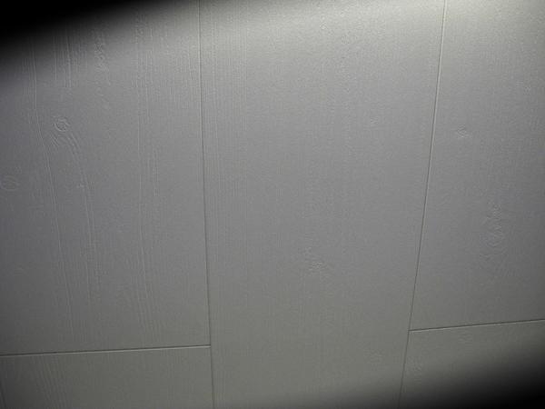 Takplattor i vit trästruktur