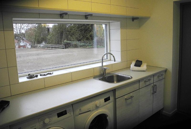 Tvättstugan har också skjutdörrar